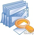 business work supplies envelope mail email magnifying glass search find documents   bc2_001 clip art business supplies  gif, jpg, eps