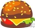 Cheeseburger vector clip art image