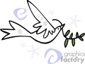 white dove carrying an olive branch