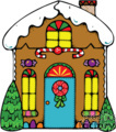 Colorful Gingerbread House With an Icing Roof