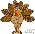 Cartoon Turkey vector clip art image
