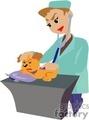 A Veterinaryan Listening to a Sick Puppys Heart