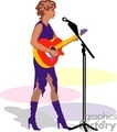a woman standing at a microphone playing an acoustic guitar gif, jpg