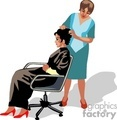 women getting her hair done
