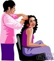 people working barbers barber beautician hairdresser   1004occupations035 clip art people  gif, jpg
