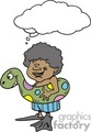 bubble thought thoughts people thinking comic comics funny characters african american swimming   thoughtbubble004 clip art people  gif, jpg