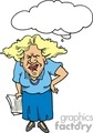 cartoon teacher looking upset