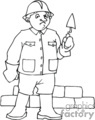 occupations work working occupational brick bricks layer   working_065-b clip art people occupations