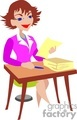 people working occupational desk paper teacher teachers lady women secretary student college   occupation049yy clip art people occupations