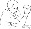boxing boxer boxers   sport173_bw clip art sports boxing  gif