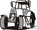 black and white tractor