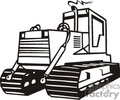 Black and white bulldozer