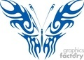 butterfly blue graphic wing design