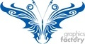 Artistic blue butterfly