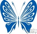 butterfly in blue and white