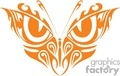 orange bluterfly with two eyes design