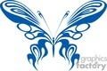 butterfly blue tribal gif, jpg, eps