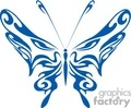tribal blue butterfly tattoo with eyes in wings