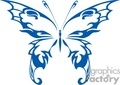 fairy winged butterfly in blue gif, jpg, eps