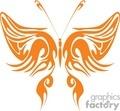 orange butterfly clipt art
