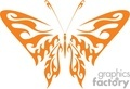 orange tribal butterfly vinyl ready gif, jpg, eps