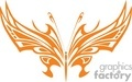 orange butterfly pointed wings vector clip art image