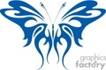 Tribal blue butterfly tattoo