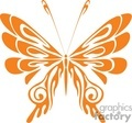 butterfly orange design gif, jpg, eps
