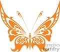 tattoo orange butterfly