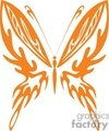 clip art butterflies in orange