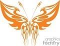 orange flamed winged butterfly clip art gif, jpg, eps
