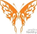 a Buttefly silhouette in orange