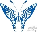 Dark Blue butterfly tribal