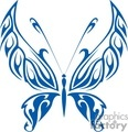 blue tribal butterfly