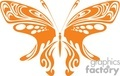 butterfly orange decorative whimsical wings vector clip art image