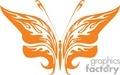 a tatoo of orange butterfly