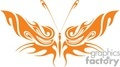 butterfly orange tribal design gif, jpg, eps