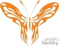 Orange butterfly Fire design vector clip art image