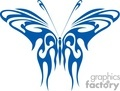blue butterfly tribal clipart