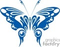 blue butterfly with circle decorative wings
