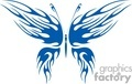 a blue butterfly design