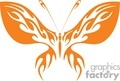 orange clip art of a butterfly