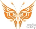 orange butterfly with an owls face