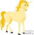 Yellow cartoon unicorn