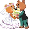 marriage  teddy bears kissing