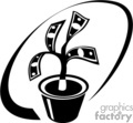 black and white money tree