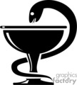 serpent drinking out of a cup