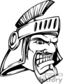 cartoon trojan warrior mascot