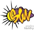 Graffiti sun spelling