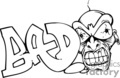 graffiti tag tags word words art vector clip art graphics writing city bad face character vinyl vinyl-ready signage black white ready cutter gif, png, jpg, eps